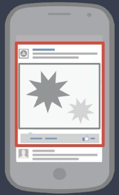 Реклама в Facebook на мобильном устройстве